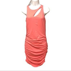 Express Form Fitting Pink Cut Out Dress